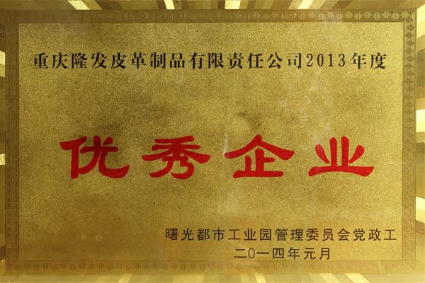2013年度优秀企业